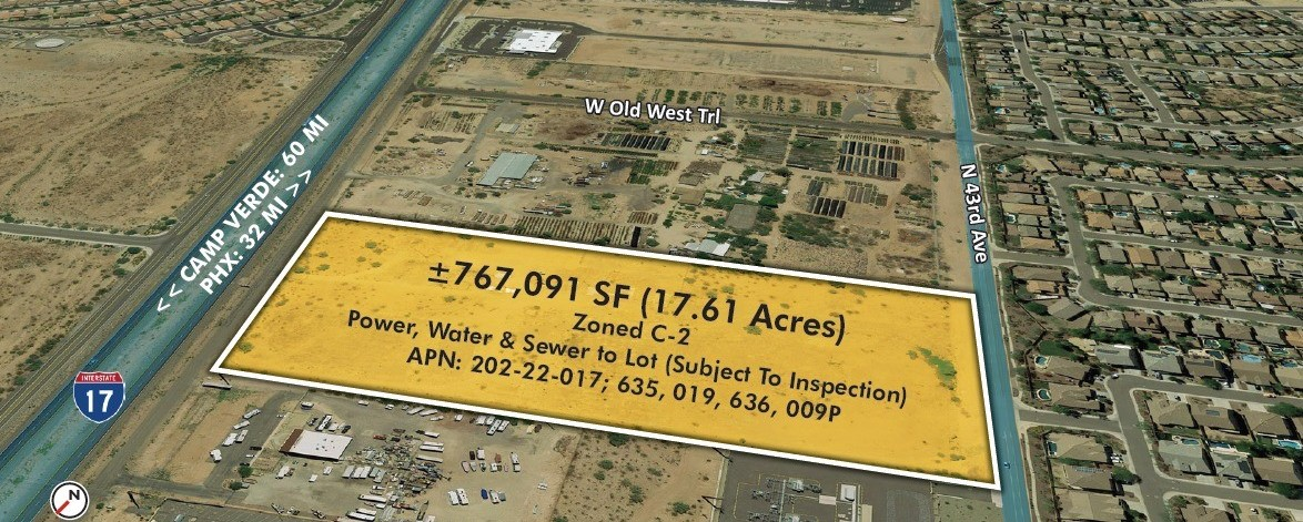 43808 N Black Canyon Hwy, Phoenix AZ 85087 Commercial Land