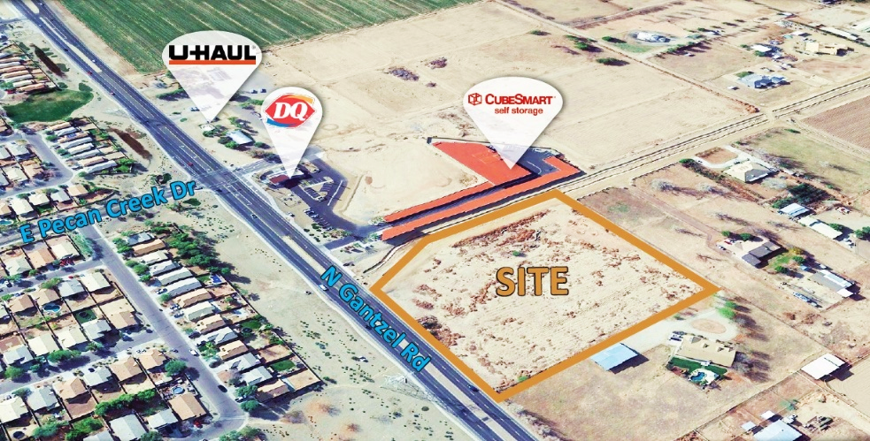 COMMERCIAL LAND INVESTMENT SALE AT 37996 N. GANTZEL RD., SAN TAN VALLEY AZ